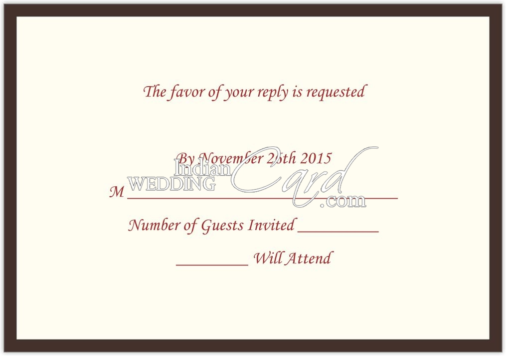 rsvp invitations cards indian wedding cardrsvp7