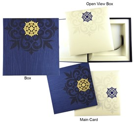 Wedding Cards With Box Scroll In A Box Indian Wedding Card