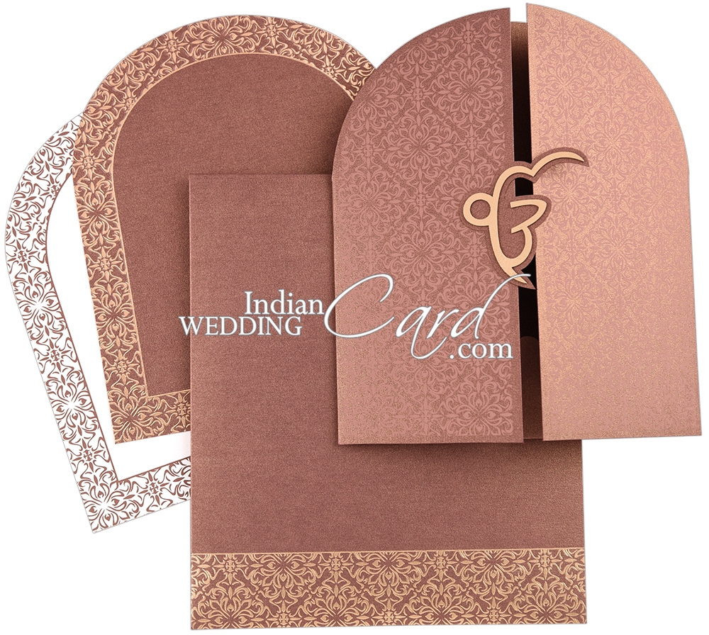 D-8044, Brown Color, Shimmery Finish Paper.