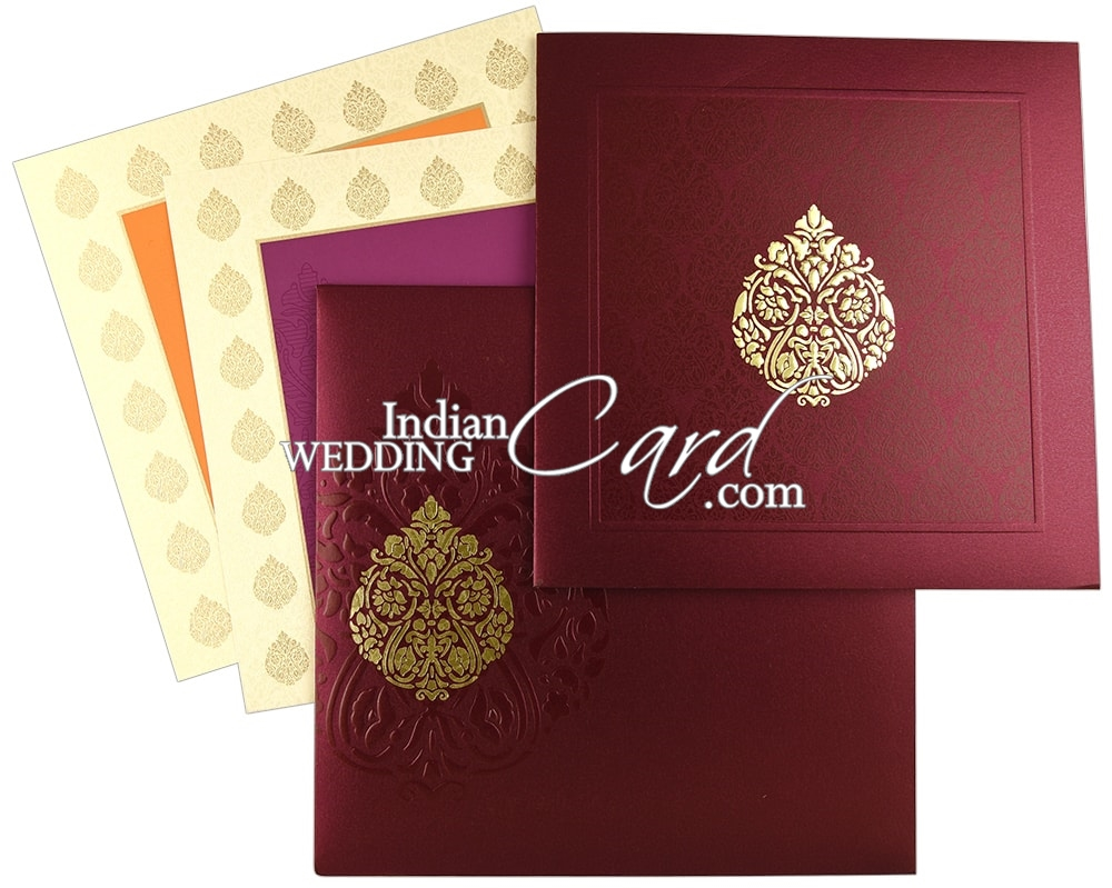 D-8605, Purple Color, Shimmery Finish Paper, Designer Multifaith ...