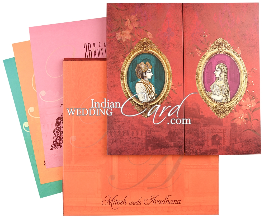 IWPC846, Red Color, Multicolor Offset Cards, Designer Multifaith ...