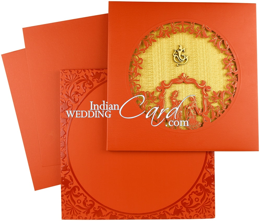 IWRA40, Red Color, Laser Cut Cards, Hindu Cards, Exclusive Invitations.