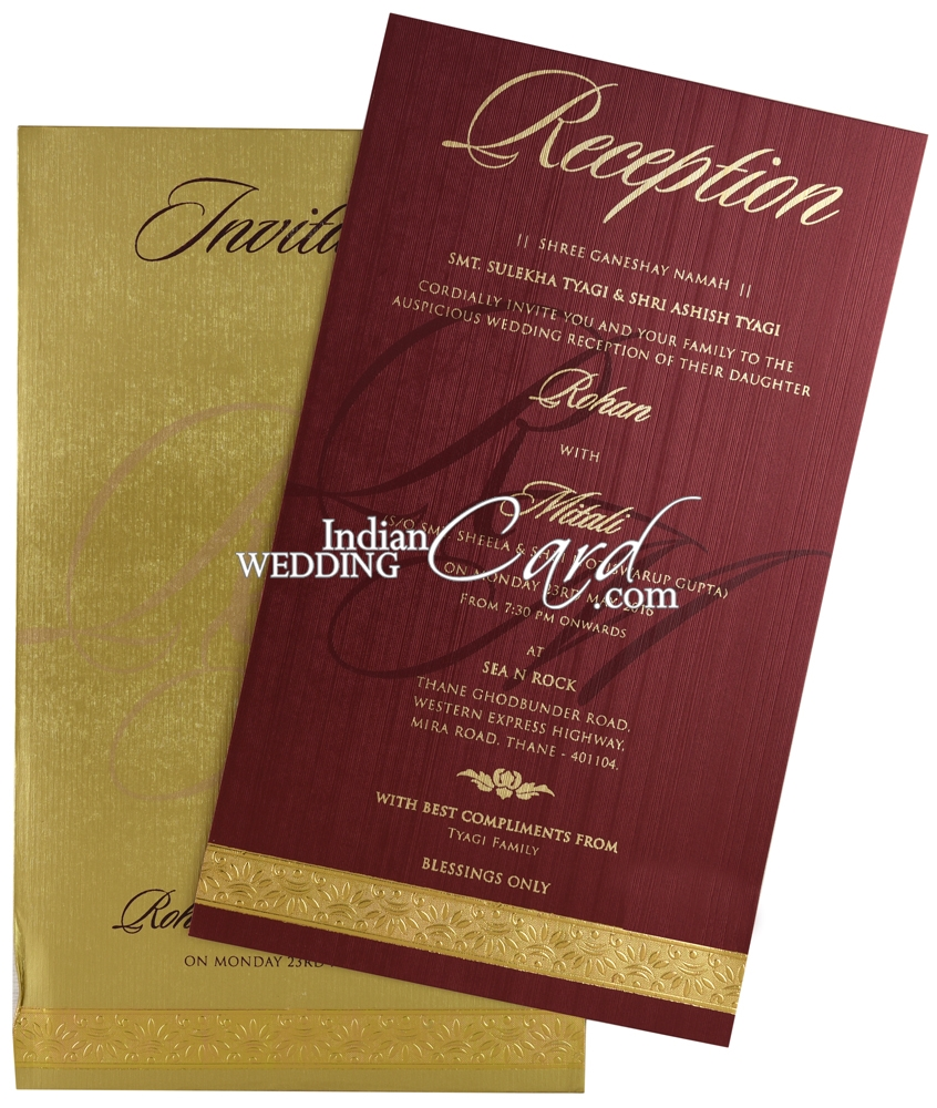 IWRX89, Red Color, Shimmery Finish Paper, Single Sheet Cards ...