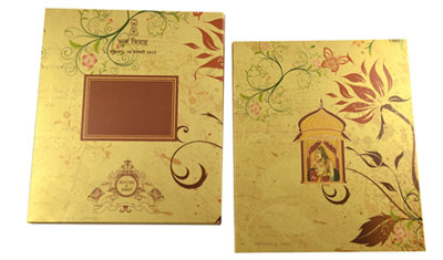Shimmery Finish Paper Card