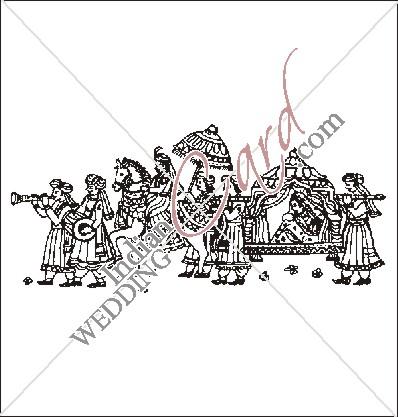 IndianWeddingCard  Indian Wedding Doli Clipart Images