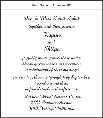 Marriage invitations scroll wedding invitation card muslim amazone bt click to see complete page layout in this font stopboris Images