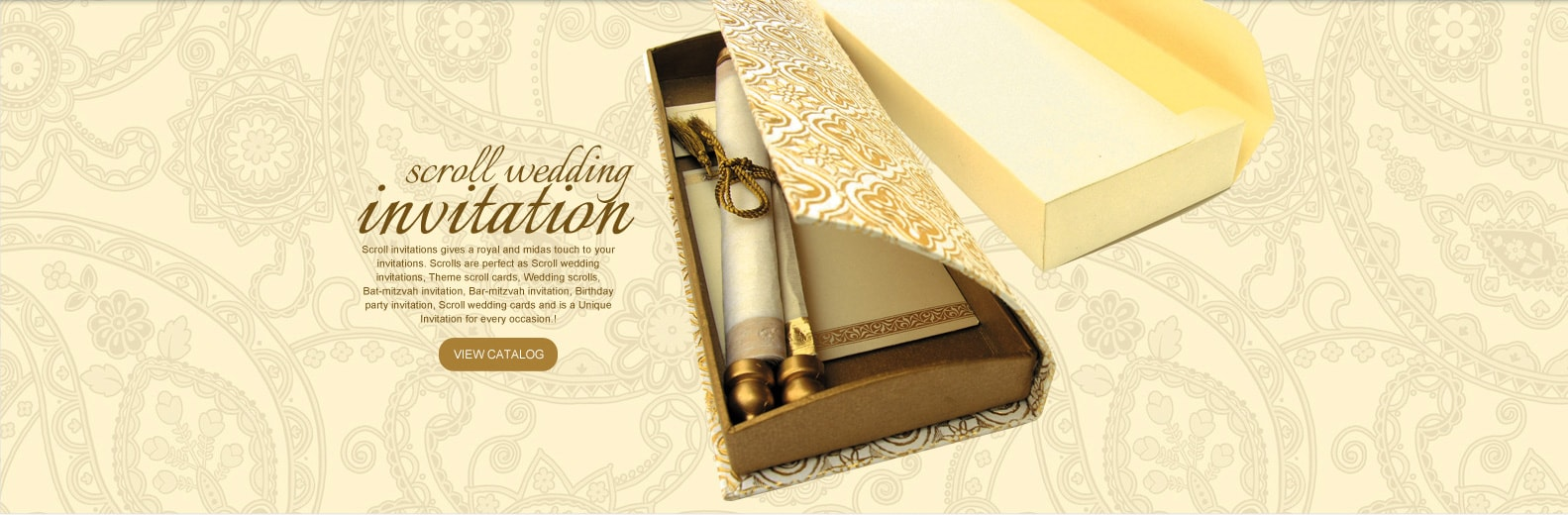 Scroll Invitations, Bat & Bar Mitzvah Invitations, Wedding ...
