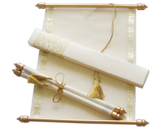 scrolls with envelope - Wedding Scroll Invitations