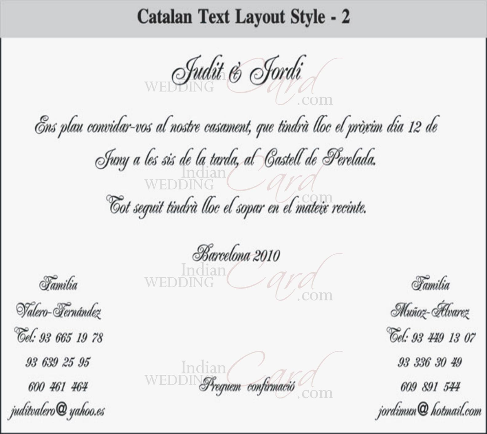 Catalan Text Layout 2  Engagement Invitation Matter