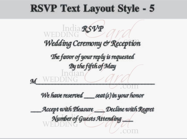 wedding rsvp example