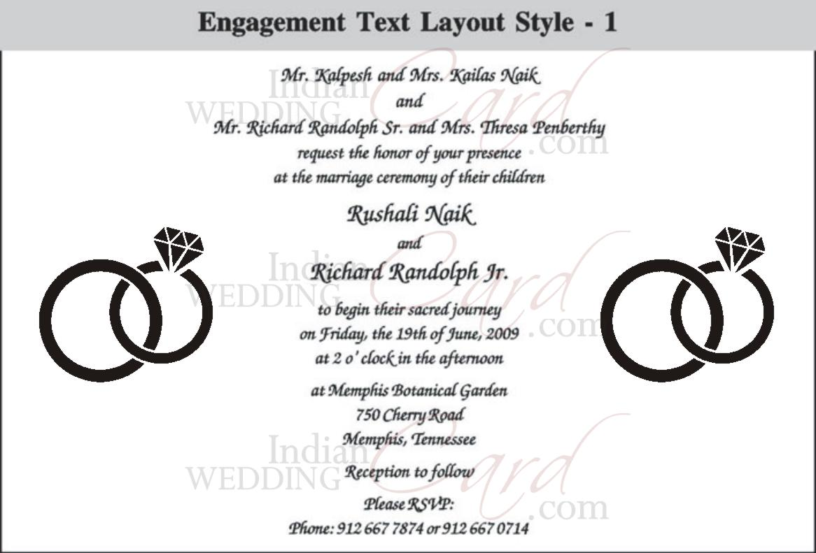 IndianWeddingCard – Hindu Engagement Invitation Cards