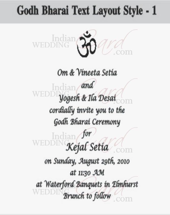 Indianweddingcard godh bharai layout 1 stopboris Images