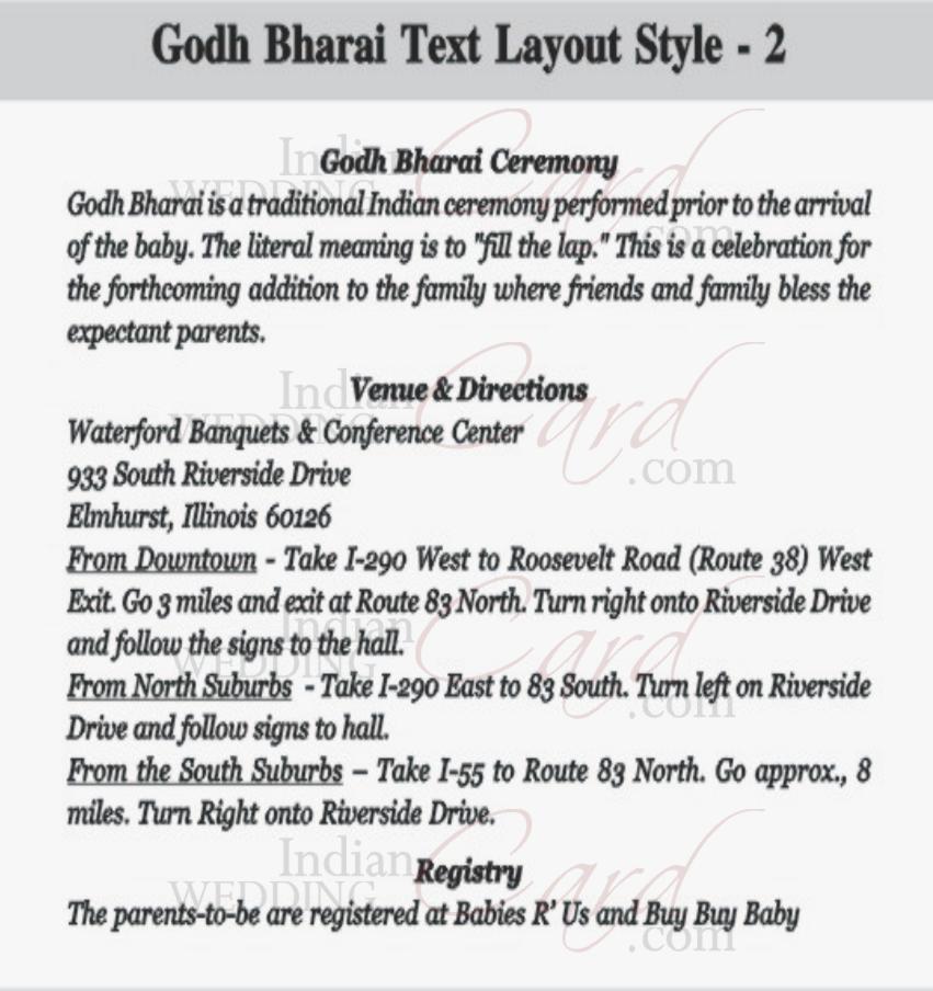 Indianweddingcard godh bharai layout 2 stopboris Image collections